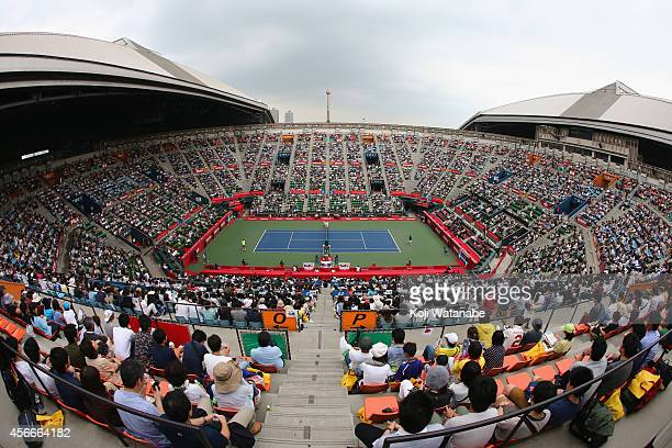 A general view of the main court on day six of Rakuten Open 2014 at Ariake Colosseum on October 4 2014 in Tokyo Japan