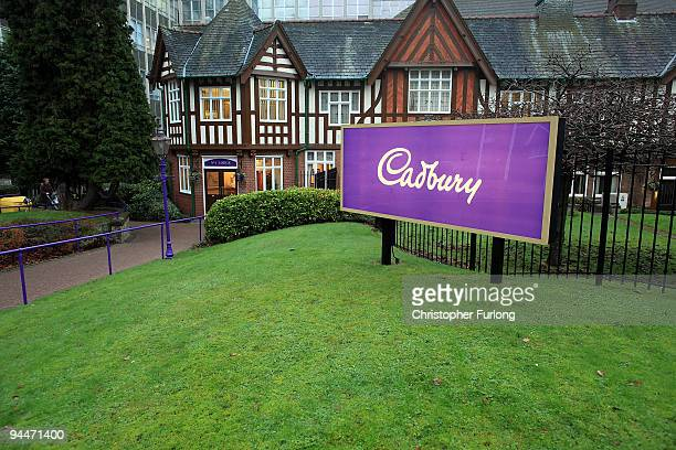 A general view of the main entrance at the Cadbury's Bournville production plant on December 15 2009 in Birmingham England The historic confectioner...