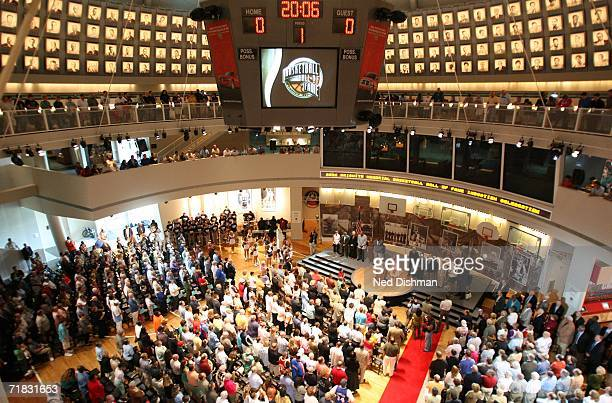 A general view of the main event room during the 2006 Basketball Hall of Fame induction celebration on September 9 2006 at the Naismith Memorial...