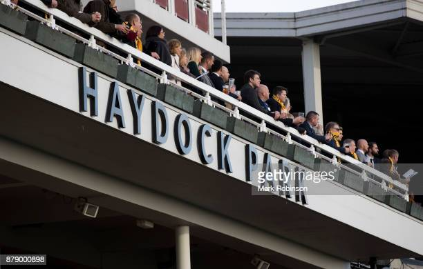 General View of the Main Grandstand at Haydock Race Course on November 25 2017 in Haydock England