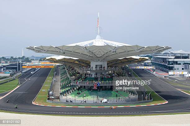 General view of the main grandstand during saturday's free practice session of the Malaysian Motorcycle Grand Prix held on October 29 at Sepang...