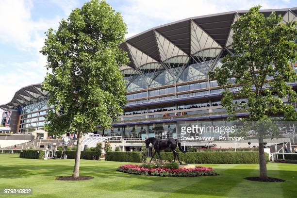 General view of the main grandstand on day three of Royal Ascot at Ascot Racecourse.