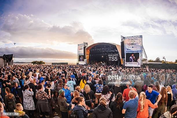 General view of the Main stage at Fusion Festival on Otterspool Promenade on September 3 2016 in Liverpool England