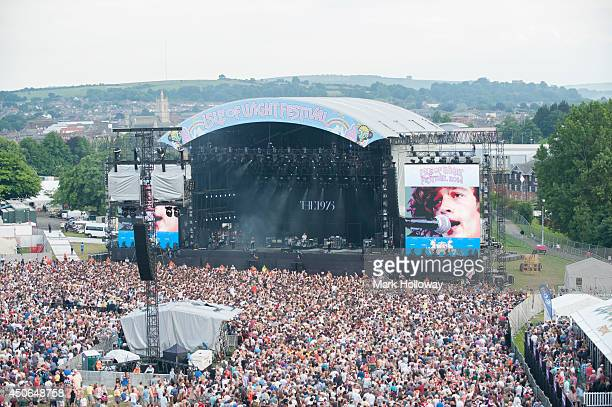 A general view of the Main Stage at The Isle of Wight Festival as Seaclose Park on June 14 2014 in Newport Isle of Wight