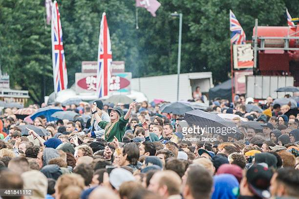 General view of the Main Stage at Tramlines Festival on July 24 2015 in Sheffield United Kingdom