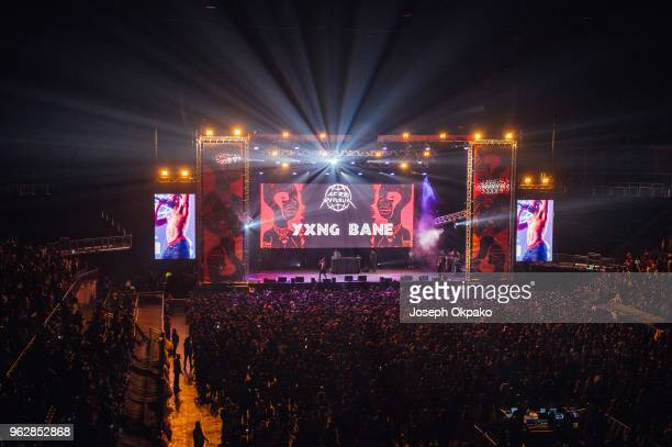 General view of the Main stage during AFROREPUBLIK festival at The O2 Arena on May 26 2018 in London England