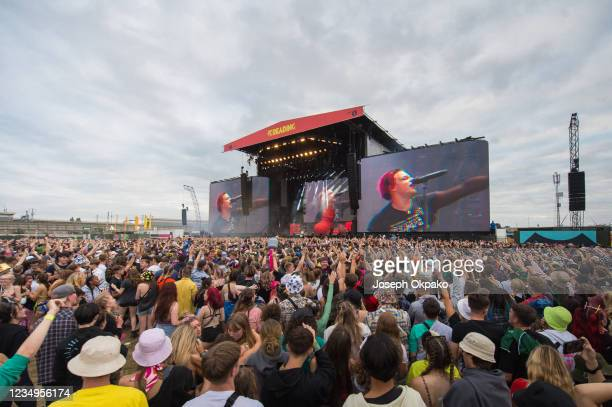General view of the Main Stage during Reading Festival 2021 at Richfield Avenue on August 29, 2021 in Reading, England.