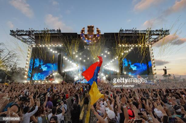 General view of the main stage during Ultra Music Festival 2018 at Bayfront Park on March 24 2018 in Miami Florida