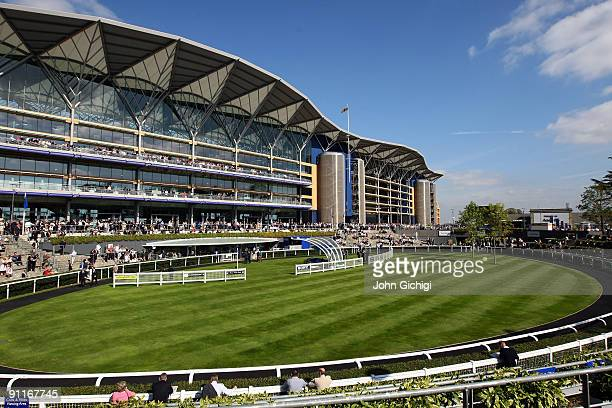 General View of the main stand at Ascot Racecourse on September 26 2009 in Ascot England