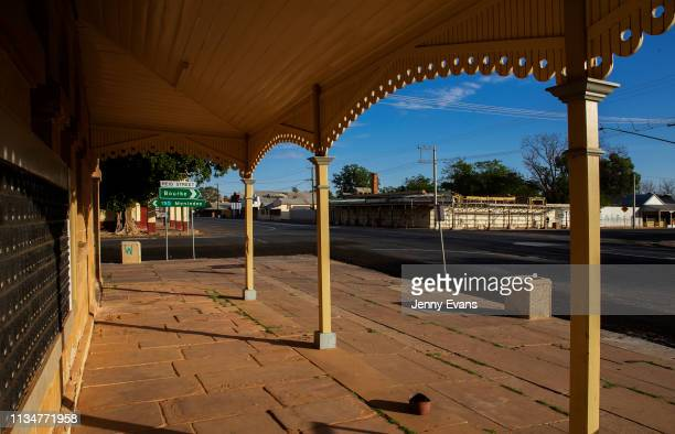 General view of the main street viewed from the post office on March 05, 2019 in Wilcannia, Australia. The Barkandji people - meaning the river...