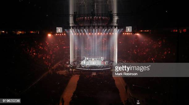 A general view of The Manchester Arena during the World Boxing Super Series on February 17 2018 in Manchester England