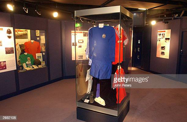 A general view of the Manchester United museum at Old Trafford on September 24 2003 in Manchester England