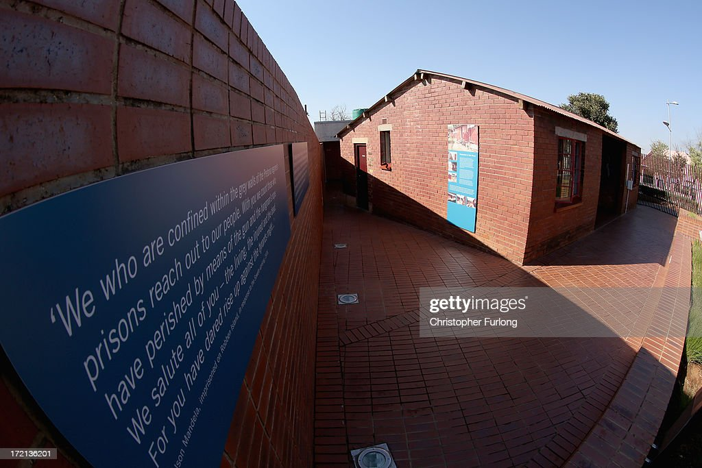 A general view of the 'Mandela House' museum at 8115 in Vilakazi Street in the Orlando West section of Soweto Township on July 2, 2013 in Soweto, Johannesburg, South Africa. 8115 is the location of the first house owned by former South African President Nelson Mandela where he lived for 44 years from 1946 to 1990. The 'Mandela House', now a museum is managed by the Soweto Heritage Trust which has seen an increase in vistors both local and international since Mandela was hospitalized with a lung infection on June 8, 2013 and still remains in a critcal condition.