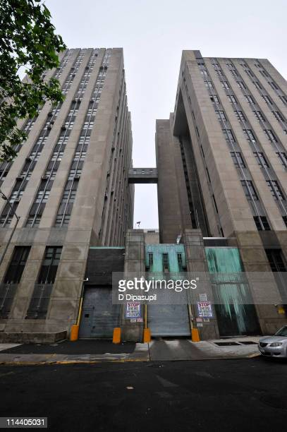 A general view of the Manhattan Criminal Court building rear entrance before the IMF Director Dominique StraussKahn hearing on sexual assault charges...