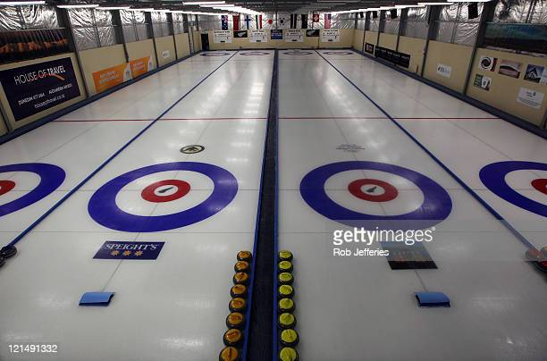 General view of the Maniototo International Curling Rink on day eight of the Winter Games NZ at Maniototo International Curling Rink on August 20,...