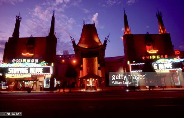General view of the Mann's Chinese Theatre, which is the movie palace on the historic Hollywood Walk of Fame at 6925 Hollywood Boulevard circa...