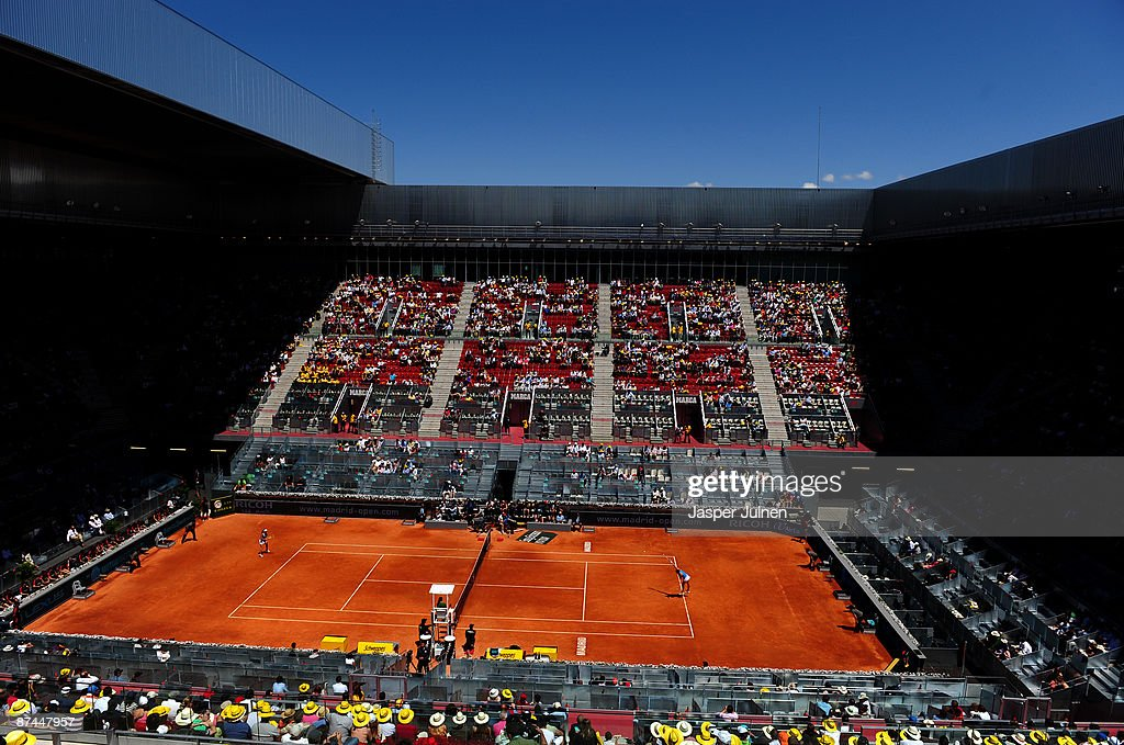 A general view of the Manolo Santana centre court for the Dinara Safina of Russia against Caroline Wozniacki of Denmark final Madrid Open tennis tournament match at the Caja Magica on May 17, 2009 in Madrid, Spain. Safina won the match in two sets, 6-2 and 6-4.