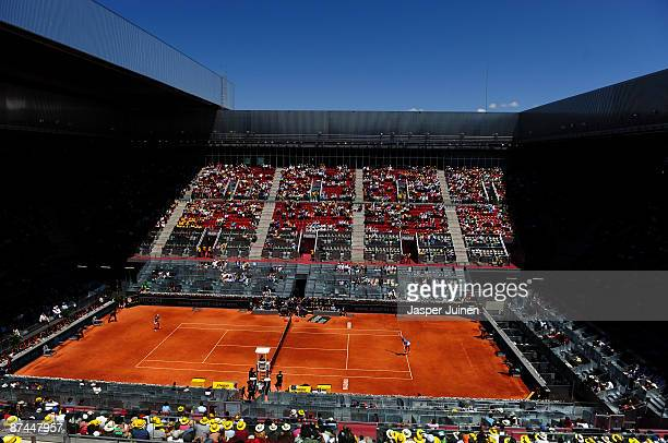 General view of the Manolo Santana centre court for the Dinara Safina of Russia against Caroline Wozniacki of Denmark final Madrid Open tennis...