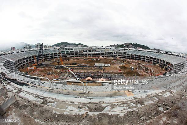 General view of the Maracana stadium during the renovation and upgrade process on December 01 2011 in Rio de Janeiro Brazil Maracana is being...