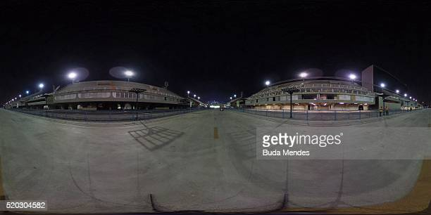 General view of the marathon as a test event for the Rio 2016 Olympic games at the Sambodromo on April 10 2016 in Rio de Janeiro Brazil The...