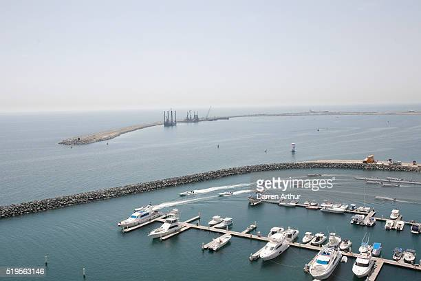 A general view of the marina is seen as teams prepare to race for pole position during the Fujairah Grand Prix the first round of the UIM XCAT World...