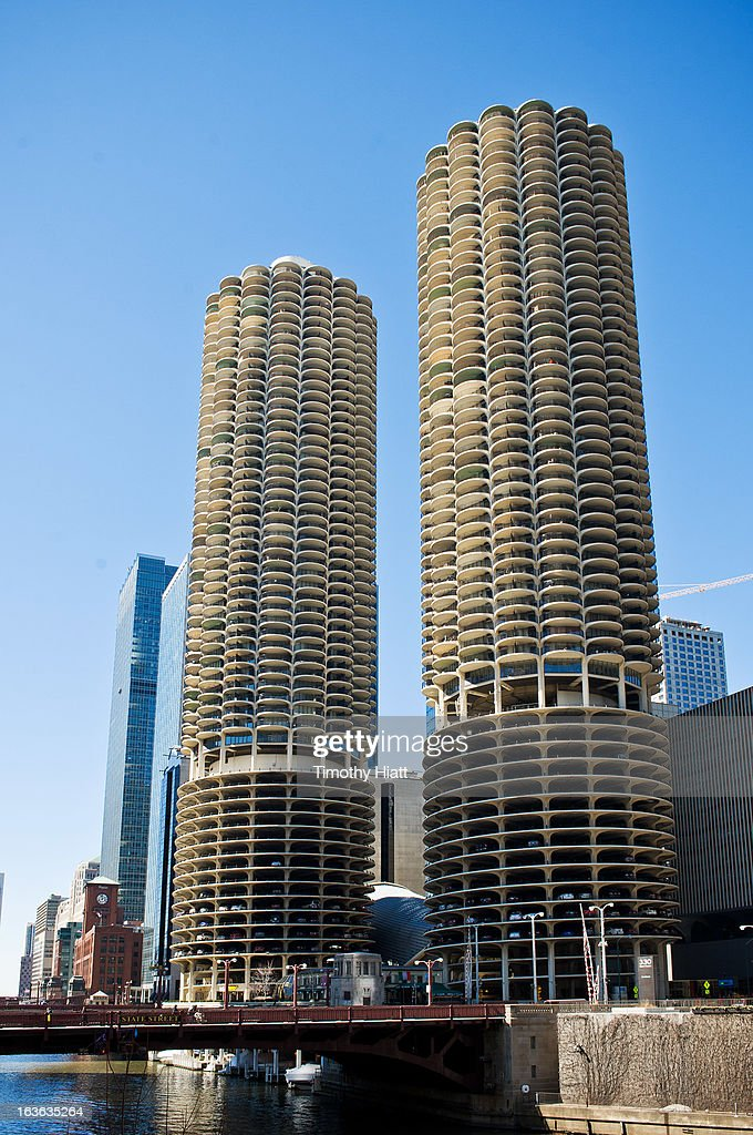 A general view of the Marina Towers on March 13, 2013 in Chicago, IL.
