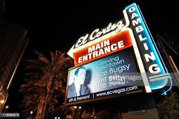 A general view of the marquee at the El Cortez Hotel Casino on Fremont Street July 19 2011 in Las Vegas Nevada