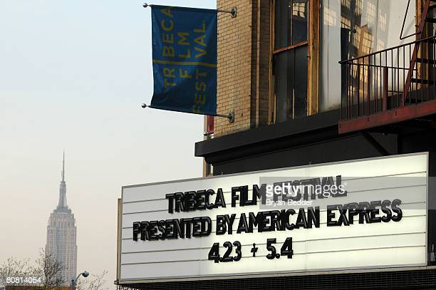 General view of the marquee at Tribeca Cinemas during The 2008 Tribeca Film Festival on April 21, 2008 in New York City.