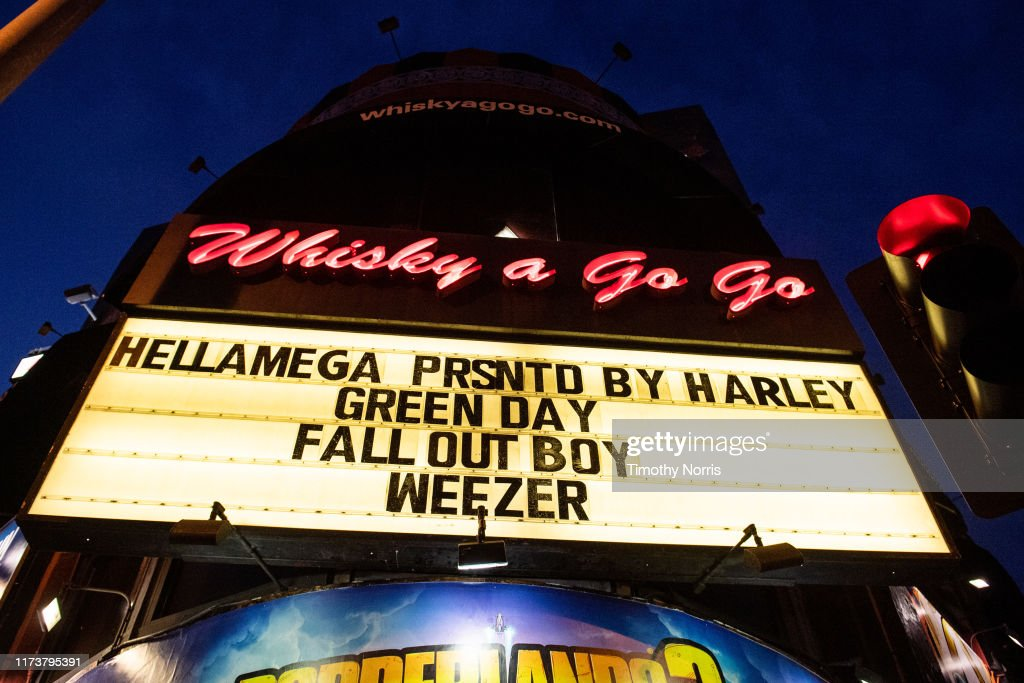 """Green Day, Fall Out Boy and Weezer Celebrate """"Hella Mega Tour"""" Announcement With Historic Show at Whisky A Go Go : News Photo"""