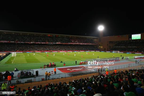 A general view of the Marrakech Stadium is seen during the FIFA Club World Cup Final between FC Bayern Munchen and Raja Casablanca at Marrakech...