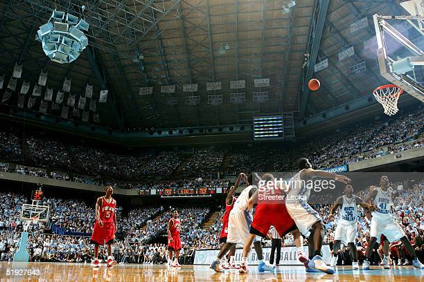 A general view of the Maryland Terrapins versus North Carolina Tar Heels on January 8 2005 at the Dean E Smith Center in Chapel Hill North Carolina