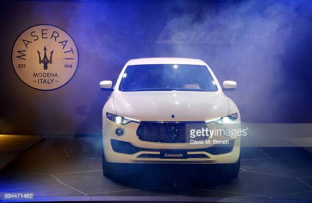 General view of the Maserati Levante SUV at The Royal Horticultural Halls on May 26, 2016 in London, England.
