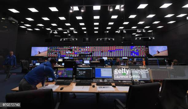 A general view of the Master Control room during the Official Opening of the International Broadcast Centre on June 9 2018 in Moscow Russia