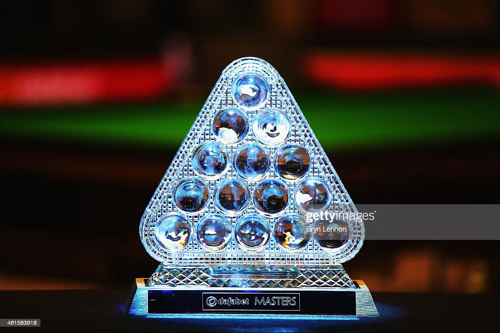A general view of the Masters trophy on Day Five of the 2015 Dafabet Masters at Alexandra Palace on January 15, 2015 in London, England.