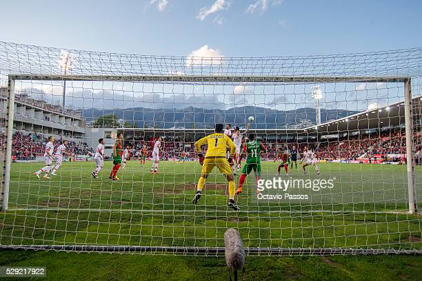 General view of the match against SL Benfica and CS Maritimo during the Portuguese Primeira Liga at Estadio dos Barreiros on May 8 2016 in Funchal...