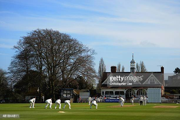 General view of the match and pavillion during Day 1 of the Pre Season match between Oxford MCCU v Nottinghamshire at the University Parks on April 1...