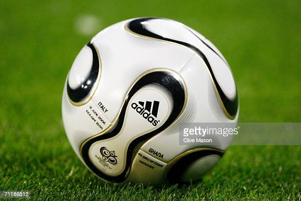 A general view of the match ball during the FIFA World Cup Germany 2006 Group E match between Italy and Ghana played at the Stadium Hanover on June...