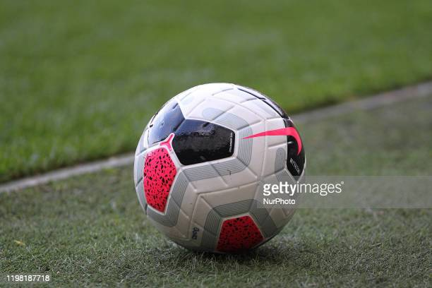 A general view of the match ball during the Premier League 2 match between Middlesbrough and Fulham at the Riverside Stadium Middlesbrough on Sunday...