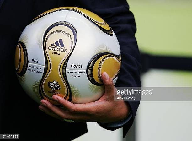 General view of the match ball prior to the FIFA World Cup Germany 2006 Final match between Italy and France at the Olympic Stadium on July 9 2006 in...