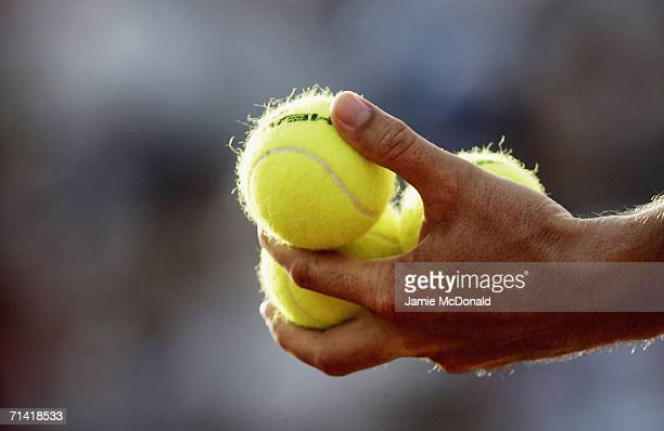 A general view of the match balls during the first round of the Allianz Suisse Open at the Roy Emerson Arena on July 11 2006 in Gstaad Switzerland