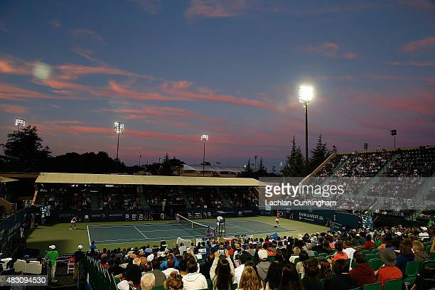 A general view of the match between Ajla Tomljanovic of Croatia and Madison Keys of the United States during day three of the Bank of the West...