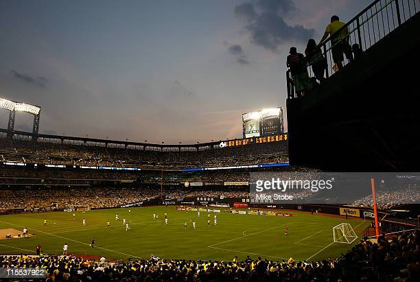 A general view of the match between Ecuador and Greece on June 7 2011 at Citi Field in the Flushing neighborhood of the Queens borough of New York...