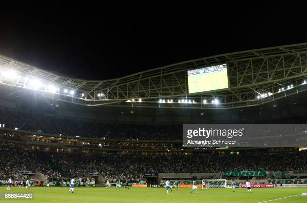 General view of the match between Palmeiras and Cruzeiro for the Brasileirao Series A 2017 at Allianz Parque Stadium on October 30 2017 in Sao Paulo...