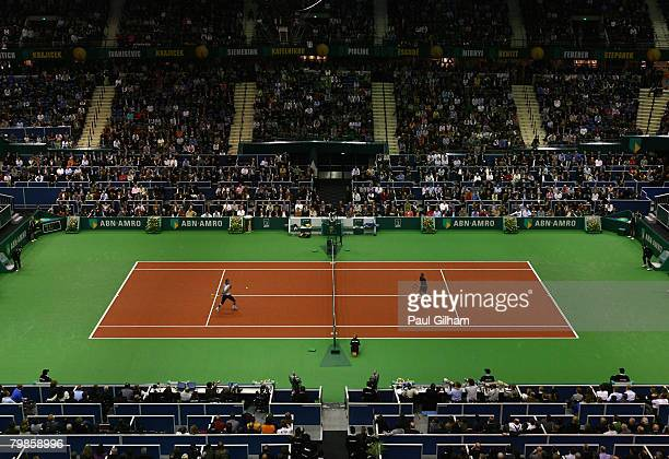 A general view of the match between Rafael Nadal of Spain and Dmitry Tursunov of Russia during day three of the ATP 35th ABN AMRO World Tennis...
