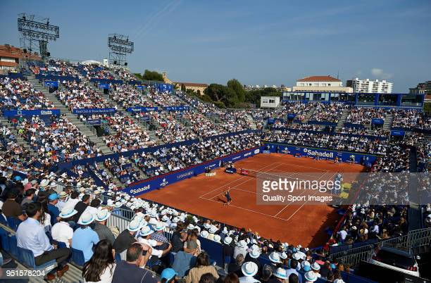 General view of the match between Rafael Nadal of Spain and Guillermo GarciaLopez of Spain during day fourth of the ATP Barcelona Open Banc Sabadell...