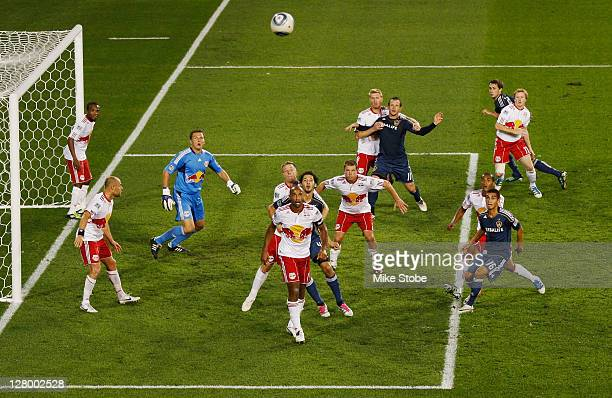 A general view of the match between the New York Red Bulls sand the Los Angeles Galaxy on October 4 2011 at Red Bull Arena in Harrison New Jersey Red...
