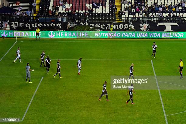 General view of the match between Vasco da Gama and Ponte Preta as part of Copa do Brasil 2014 at Sao Januario Stadium on July 30 2014 in Rio de...