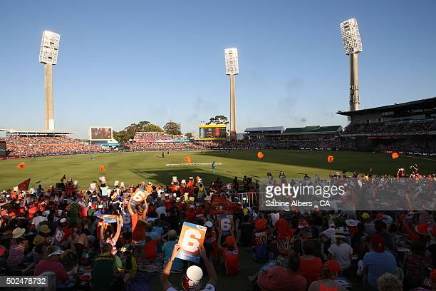 A general view of the match during the Big Bash League match between the Perth Scorchers and the Brisbae Heat at WACA on December 26 2015 in Perth...