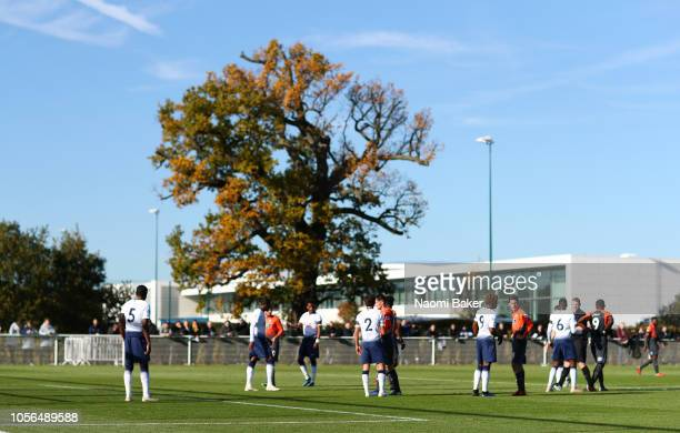 General view of the match during the Premier League 2 match between Tottenham Hotspur and Swansea City at Tottenham Hotspur Training Centre on...