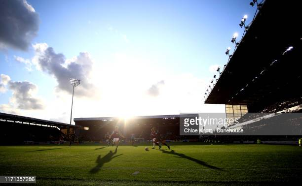 A general view of the match during the Premier League match between Burnley FC and Liverpool FC at Turf Moor on August 31 2019 in Burnley United...